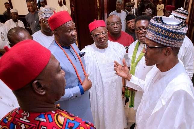 President Muhammadu Buhari and stakeholders from Southeastern States.