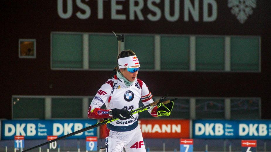 Kamila Żuk podczas ubiegłorocznych zawodów w Ostersund.
