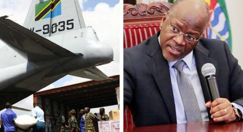Magufuli's gov't donates relief food to neighboring countries as Kenya continues to deny drought deaths
