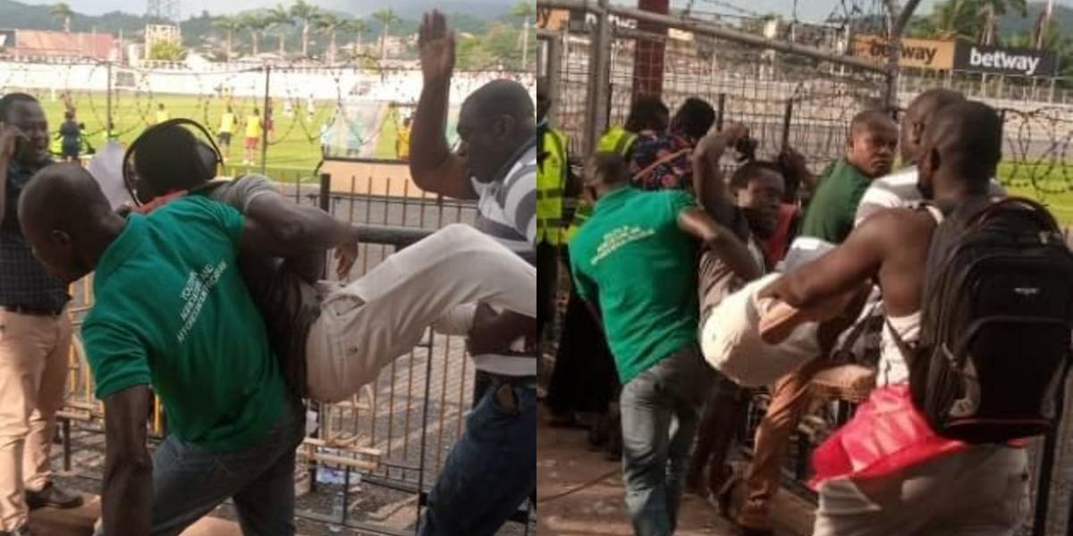 Journalist thrown out of Len Clay stadium for describing Kotoko's penalty as 'dubious' (Photos)