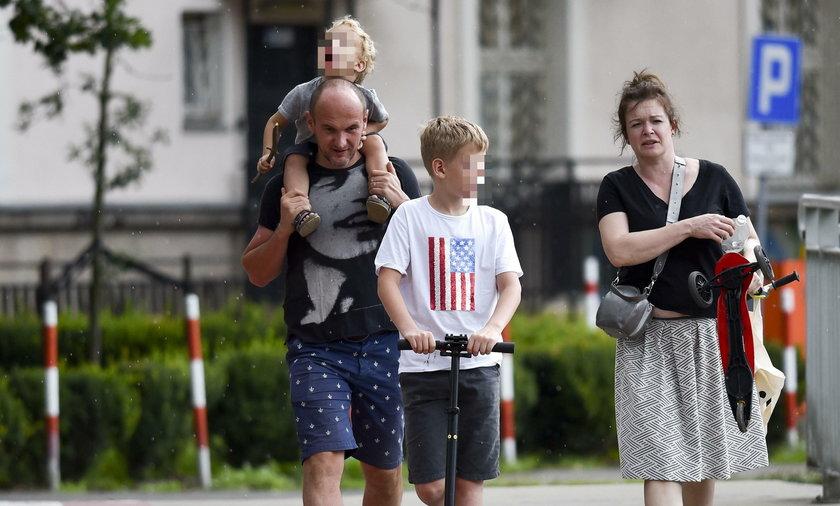 Daria Widawska z rodziną
