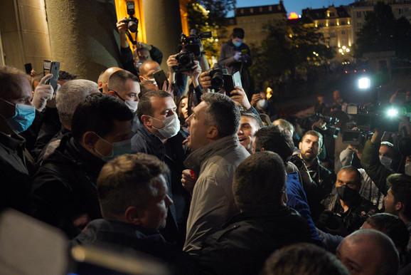 Protest Andrićev venac