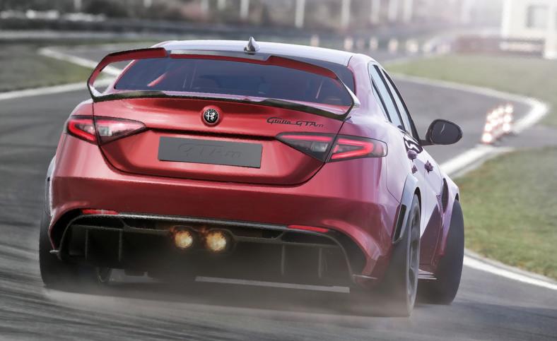 Nowa Alfa Romeo Alfa Romeo Giulia GTAm dzięki szerokiemu zastosowaniu ultralekkich materiałów może cieszyć się zmniejszoną o 100 kg masą w porównaniu z Giulią Quadrifoglio, osiągając stosunek masy do mocy wynoszący 2,82 kg/KM, co czyni ją najlepszą w swojej klasie