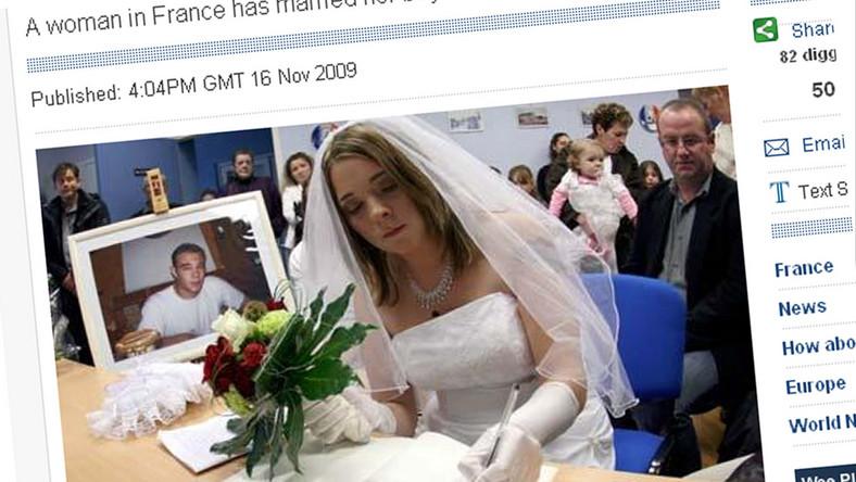 Poślubiła martwego chłopaka
