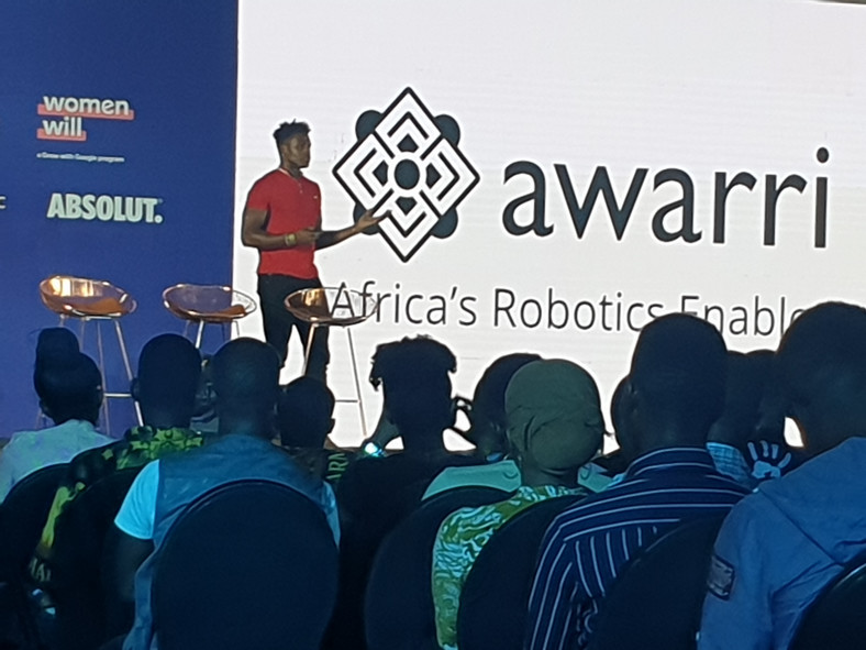 Silas Adekunle, CEO of Awarri, speaking at the Techplus event in Lagos