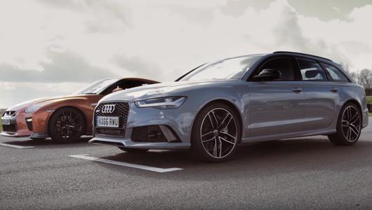 Drag Race: Audi RS 6 vs Nissan GT-R