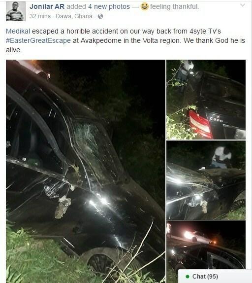 Medikal involved in accident