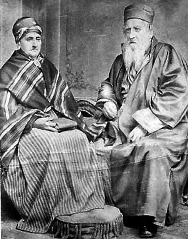 Rabin Jehuda Alkalaj (desno)