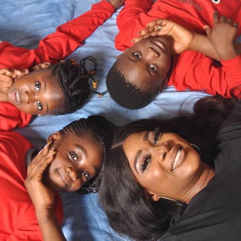Mercy Johnson Okojie and her kids [Instagram/MercyJohnsonOkojie]