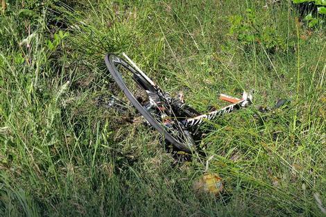 Bicikl na kome je Hejden bio u trenutku sudara
