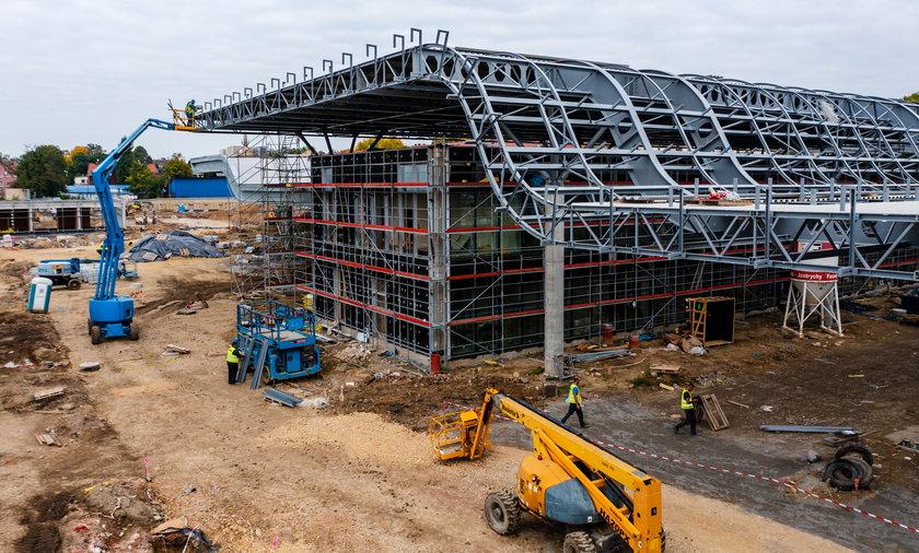 Prace na budowie centrum przesiadkowego w Gliwicach idą pełna parą