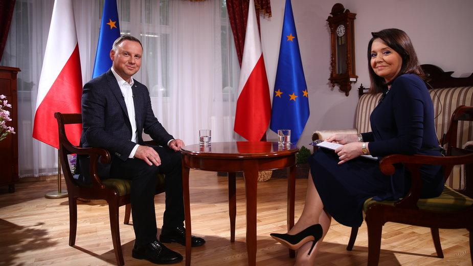 Andrzej Duda i Danuta Holecka