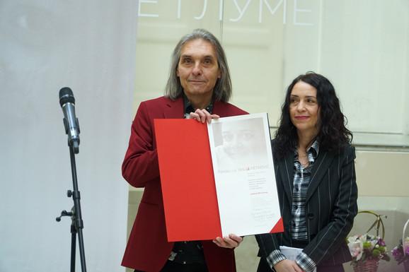Nagrada je uručena urednicima Vesni Milosavljević i Miroljubu Marjanoviću