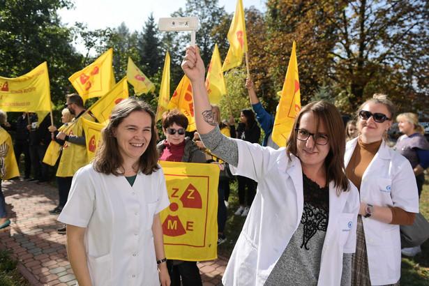 Protest fizjoterapeutów i diagnostów