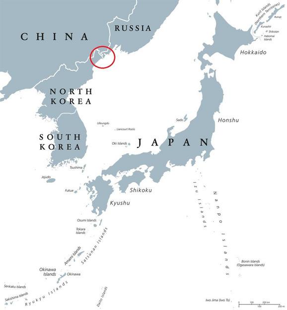 Granica između Rusije i Severne Koreje ima svega 39,4 km
