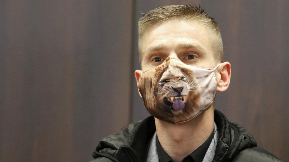 Tomasz Komenda podczas rozprawy, na które przyznano mu prawie 13 mln zł odszkodowania