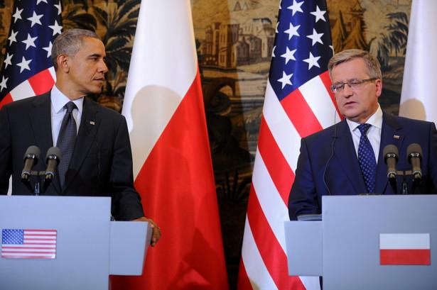 Barack Obama i Bronisław Komorowski PAP/Bartłomiej Zborowski