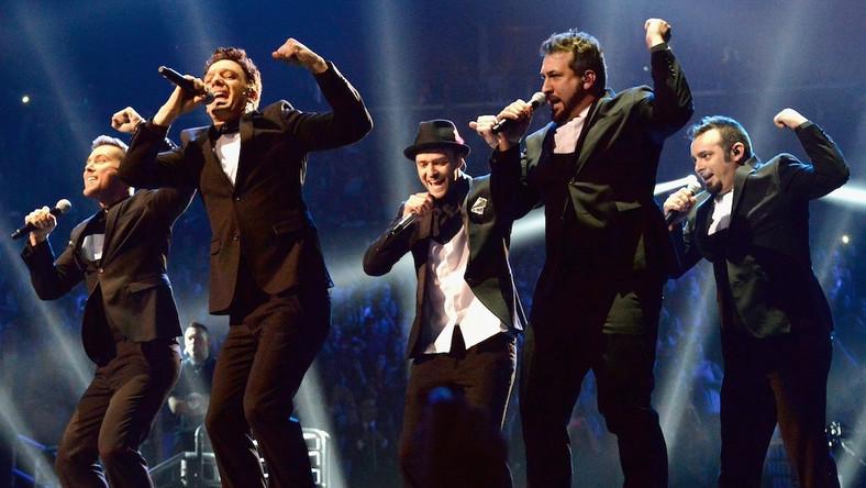 'N Sync podczas występu na gali MTV VMA 2013