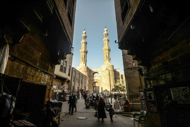 In the past, Khayamiya was used to make tents and large tapestries but has evolved as demand has changed. Two dozen shops selling the decorative appliques line the covered Khayamia Street or the Street of Tentmakers in Cairo (pictured)