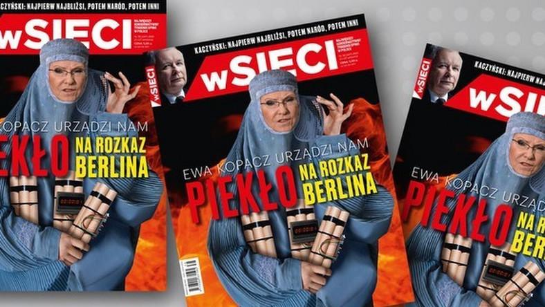 """Okładka tygodnika """"wSieci"""", za którą była premier Ewa Kopacz pozwała wydawcę"""