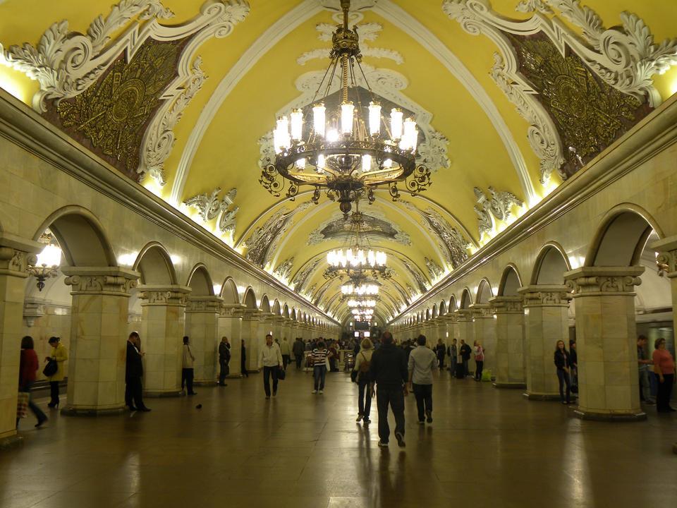 Stacja Komsomolskaya w Moskwie, w Rosji