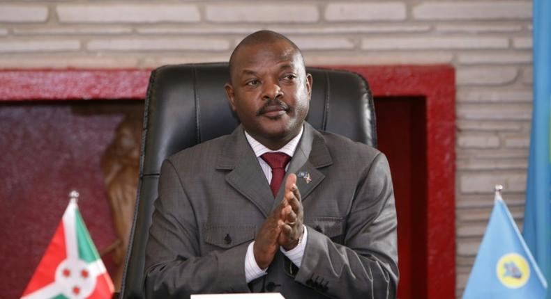 Time for farewell? Burundi President Pierre Nkurunziza, pictured in June 2018, after signing a new constitution that would enable him to run for two more seven-year terms