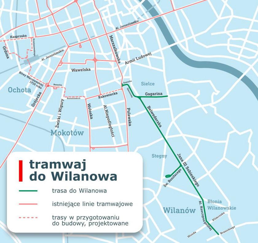 Będzie tramwaj do Wilanowa!
