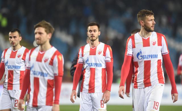 Mirko Ivanić sa saigračima tokom prošlog susreta protiv Partizana