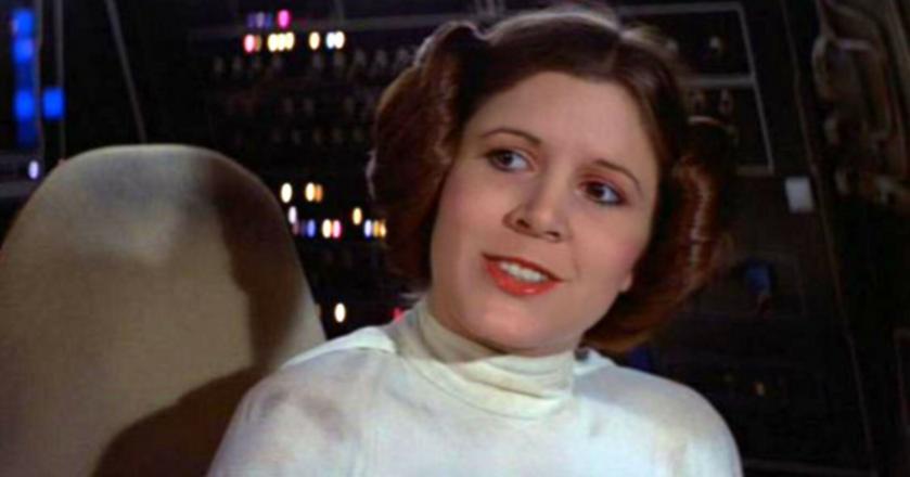 Aktorka Carrie Fisher jako księżniczka Leia