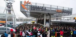 Protest w KWK Budryk