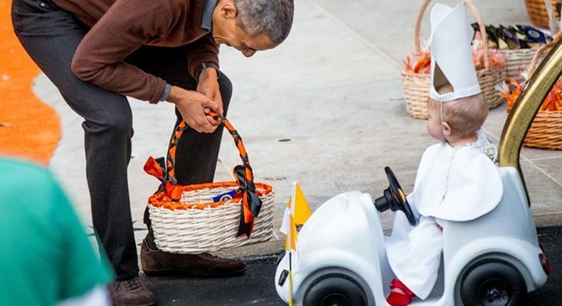 Obama and mini Pope