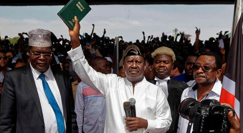 Netizens react to Miguna's tweet revoking Raila's swearing in as People's President
