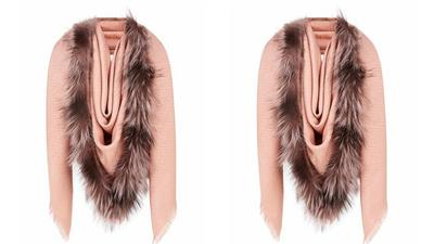 People have concluded that this designer shawl looks like a v****a