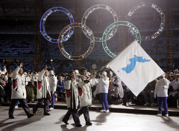Pod jednom zastavom - sportisti Južne i Severne Koreje