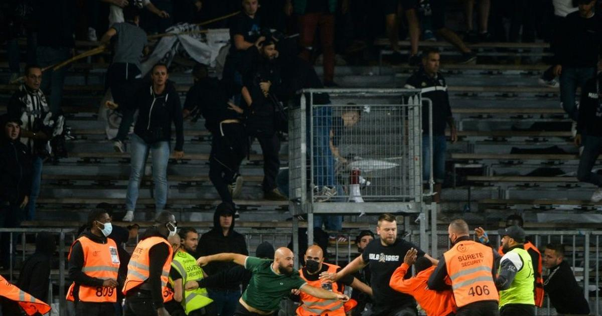 Arrests after French football rocked by violence