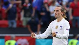 Antoine Griezmann's goal earned France a 1-1 draw with Hungary in Budapest Creator: BERNADETT SZABO