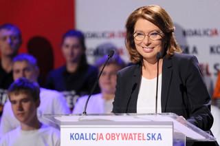 Kidawa-Błońska na konwencji KO: Trzeba podnosić płace, ale nie kosztem średnio zarabiających
