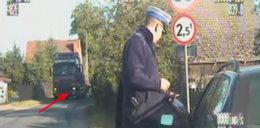 Na widok policji zostawił tira i uciekł!
