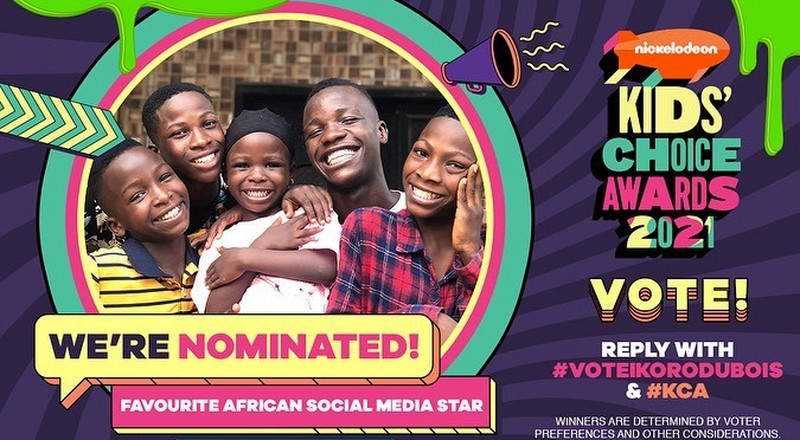 Ikorudu Bois nominated for Nickelodeon kids' choice award
