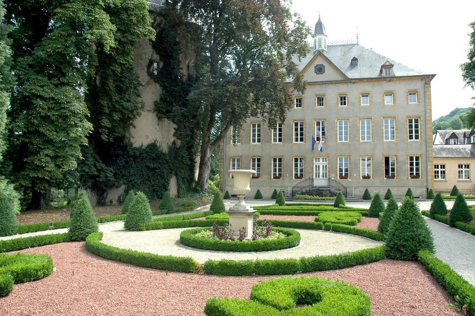 Widok na pałac w Schengen