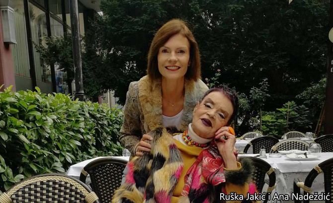 Ruška Jakić sa ćerkom Anom Nadeždić