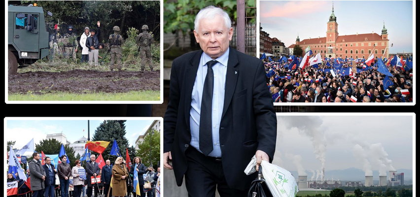 W Polsce pożary... a Kaczyński odchodzi