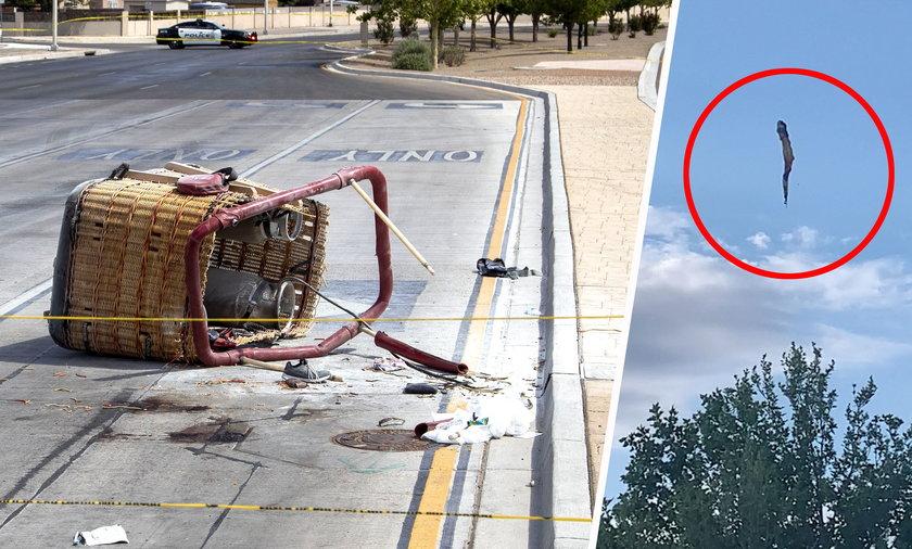 Balon z ludźmi runął na ziemię. Są ofiary śmiertelne.