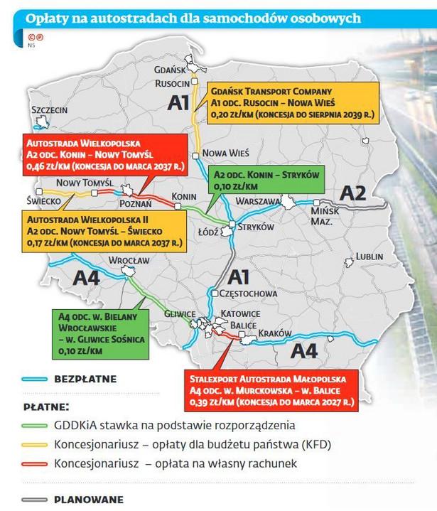 Autostrady w Polsce - opłaty