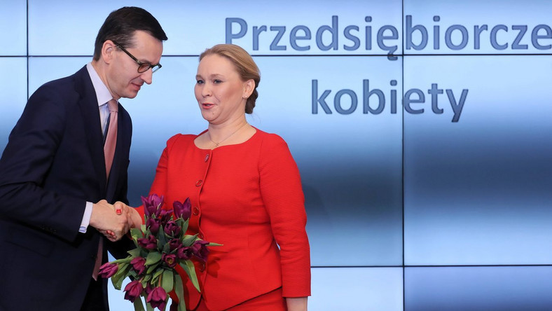 Andżelika Możdżanowska i Mateusz Morawiecki