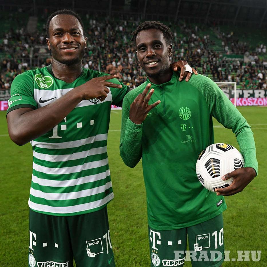 Boli (balra) négy alkalommal lőtt gólt a Moldénak, mikor Norvégiá-ban focizott, Tok-mac pedig kétszer Fotó: fradi.hu