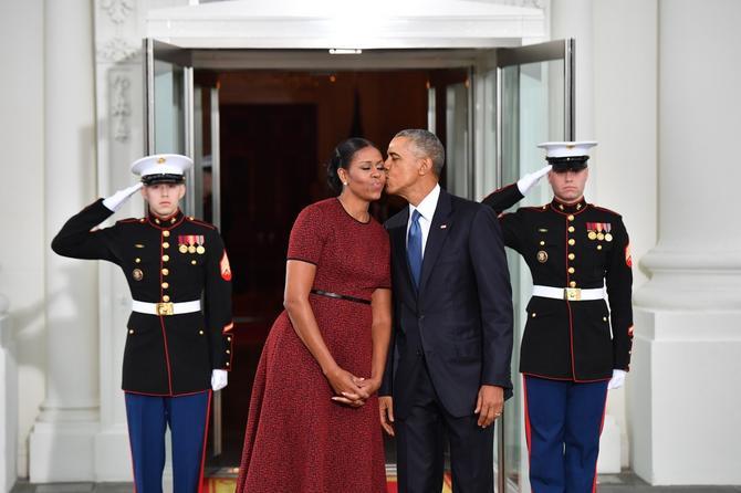 Par Obama na inauguraciji Donalda Tramoa januara ove godine u Vašingtonu