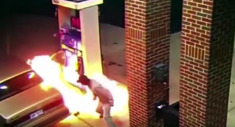 Man sets gas station on fire trying to kill spider with lighter