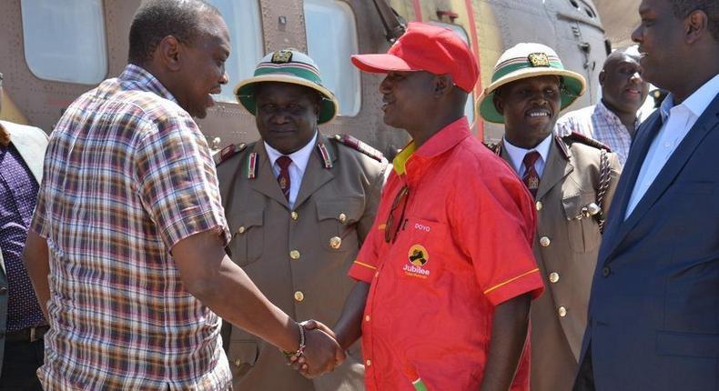 President Uhuru Kenyatta iand Isiolo Governor Godana Doyo