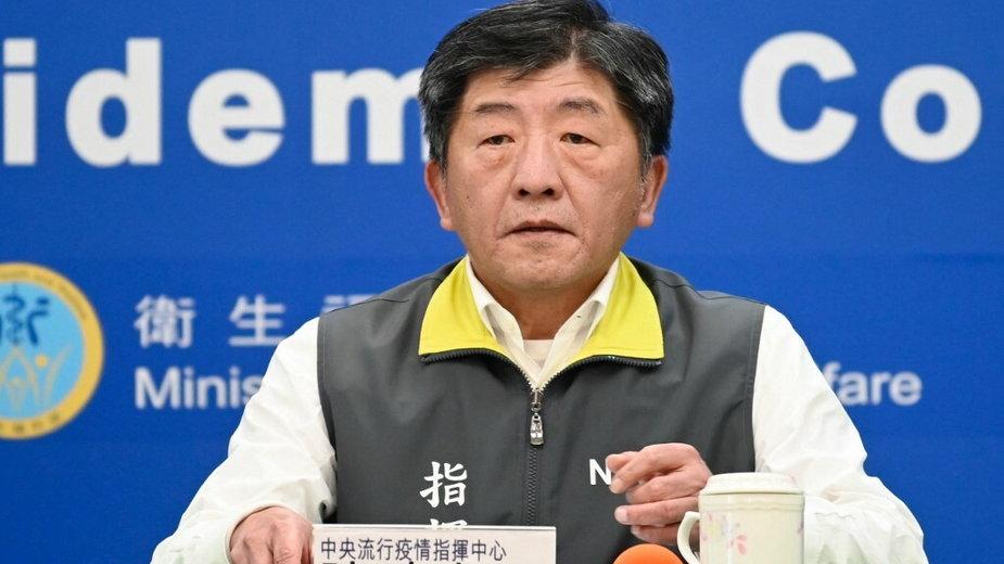 Minister zdrowia i opieki społecznej Tajwanu Chen Shih-chung